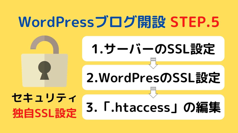 WordPresブログのSSL設定の流れ