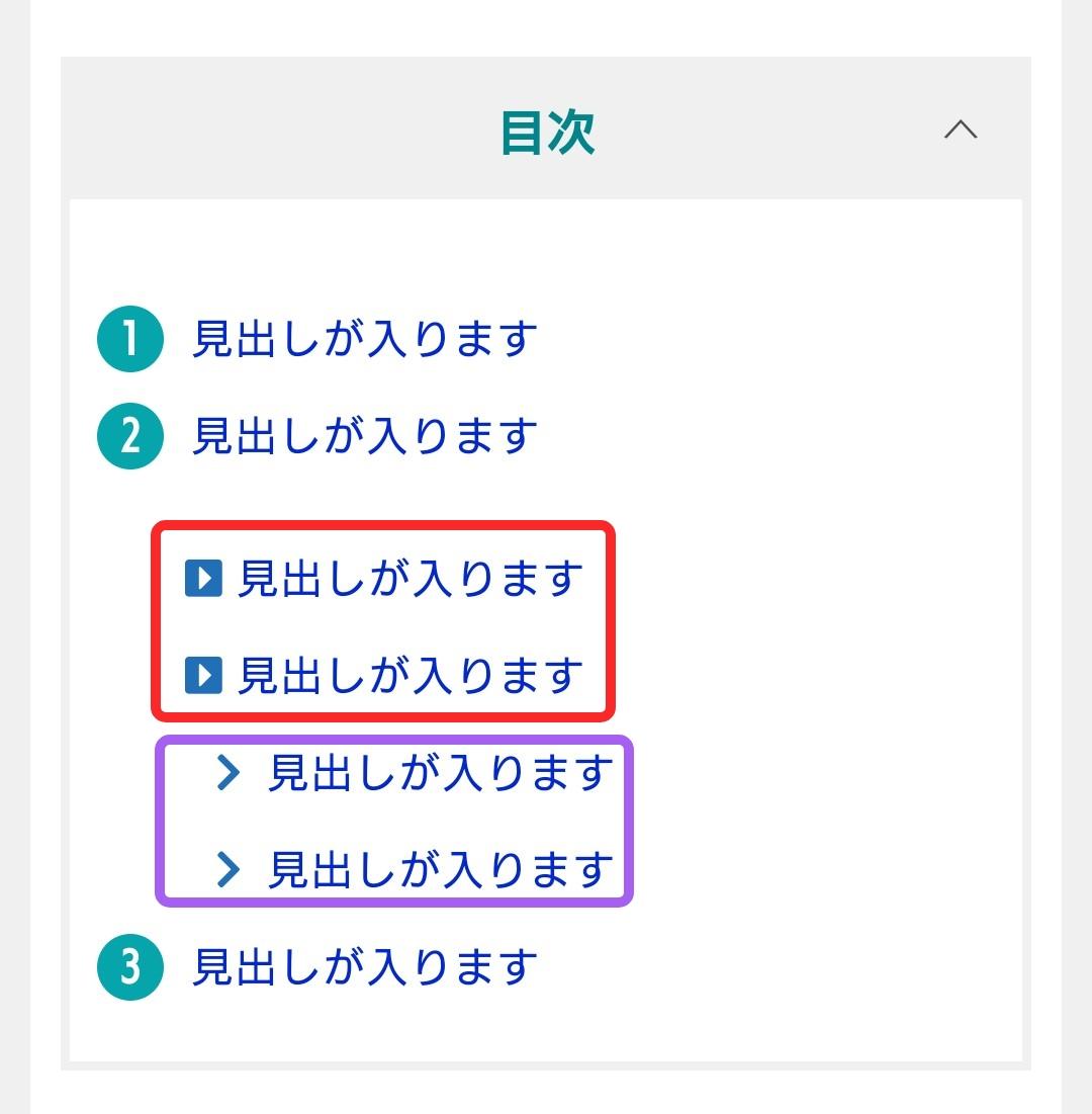 賢威8の目次のリスト番号をWEBアイコンフォントに変更